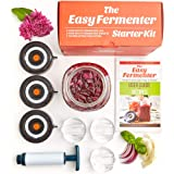 Easy Fermenter Wide Mouth Lid Kit (3 Lids + 3 Weights + Pump) – The Complete Starter Kit With Everything You Need To Begin Fe