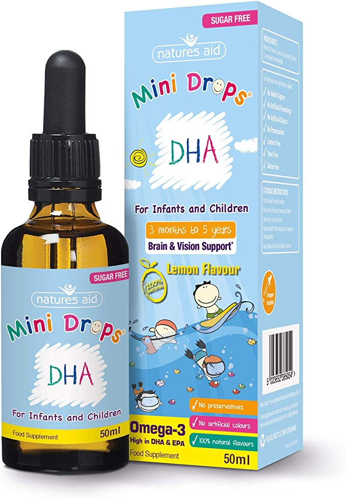 Natures Aid Dha Drops, Omega-3, 50ml,NAVX2,138510