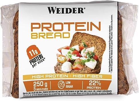 Weider Protein Bread Pan Proteico, 1 paquete de 5 rebanadas ...