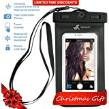 Voxkin PREMIUM QUALITY Universal Waterproof Case with COMPASS ✚ LANYARD - Best Water Proof, Dustproof, Snow proof Dry Bag for iPhone 6S, 6, 6 Plus, 5, Galaxy S6, S5, Note 4 or Any Cell Phones