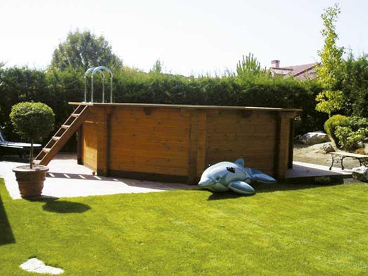 K2O Piscina de madera 520 x 130 cm + depuradora de arena