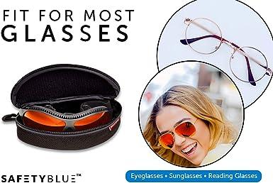 SafetyBlue Funda de transporte para gafas de sol con cierre suave y portable mosquet/ón