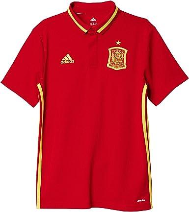 Modernizar Limpiamente Psicológico  adidas Selección de España 2016 - Camiseta Polo Oficial para niño, Talla  128: Amazon.es: Zapatos y complementos