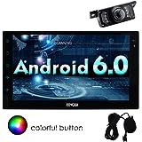 Eincar voiture Bluetooth Android 6.0 Autoradio Marshallow Quad Core HD 1080P Double Din 7 pouces UNIVERSAL Navigation GPS FM Radio AM RDS EQ Affichage AUX 3G / 4G WIFI OBD2 contr?le volant ¨¦cran tactile CAM-IN Microphone externe inclus!