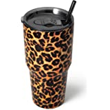 Zibtes 30oz Insulated Tumbler With Lids and Straws, Stainless Steel Double Vacuum Coffee Tumbler Cup, Powder Coated Travel Mu
