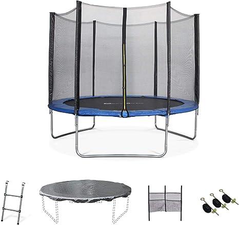 Alices Garden - Cama elástica, Trampolin de 305 cm, (estructura reforzada). Inluye: escalera + funda protectora + bolsilla para zapatos - MARS XXL: Amazon.es: Deportes y aire libre