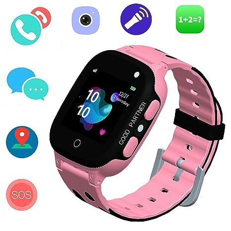 59e0dc0ecd Smartwatch per bambini - GPS Tracker Smartwatches orologio da polso  digitale telefono sveglia SOS fotocamera torcia
