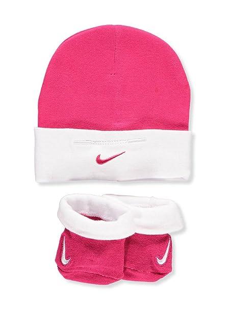 a8ee6b510 Amazon.com: Nike Baby Girls' Cap & Bootie Socks Set - rush pink, 0-6 ...