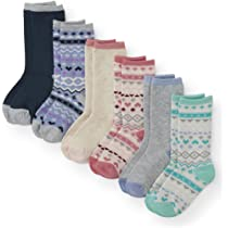 The Children/'s Place white//gray cushioned pack of 6 Ankle Socks,11-13,1-2,3-6
