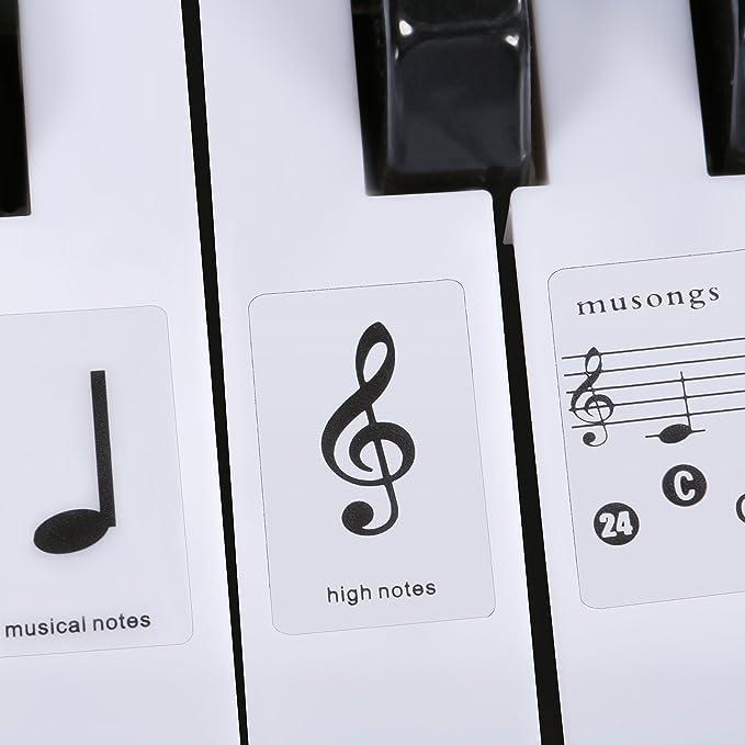 Amazon Neewer Piano And Keyboard Music Note Full Set Stickers