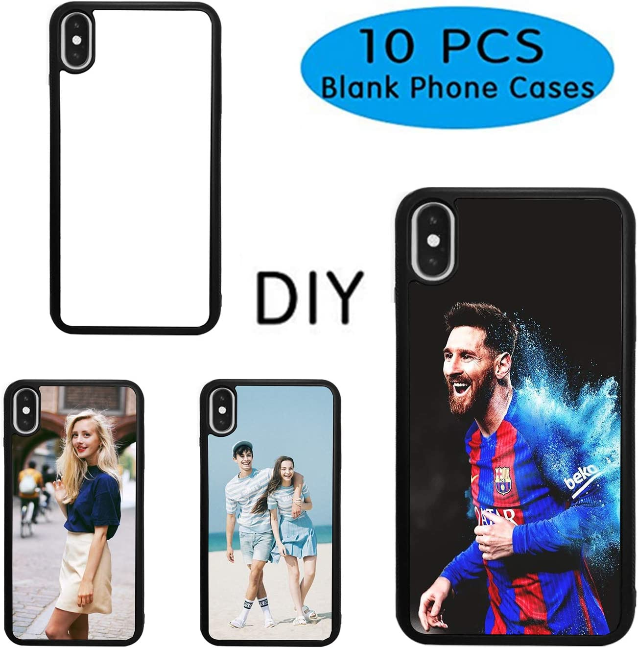 Amazon. Com: 10pcs sublimation blanks phone case covers for iphone.