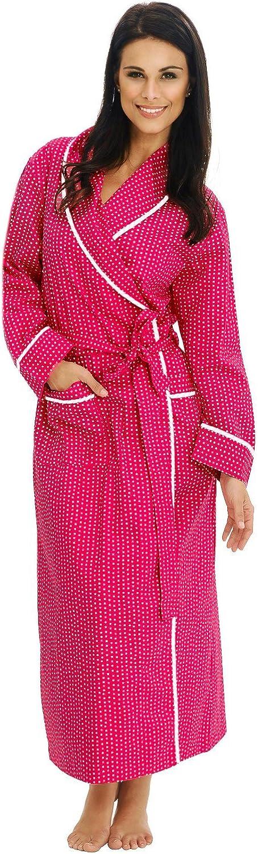 Summer Polka Dot Bathrobe Alexander Del Rossa Womens Lightweight Cotton Kimono Robe