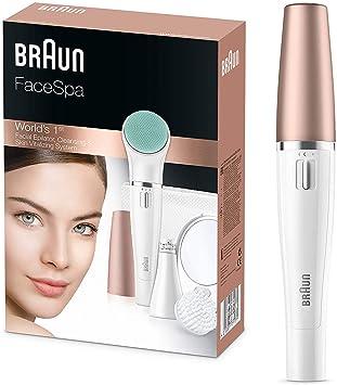 Braun FaceSpa 851 - Sistema 3 en 1 de depiladora facial, cepillo ...