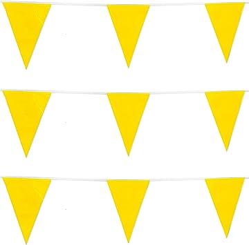 REDSTAR FANCY DRESS 10m/20 Banderas Color Guirnalda Banderas Banderines decoración Fiesta Fiestas Bandera - Amarillo: Amazon.es: Juguetes y juegos