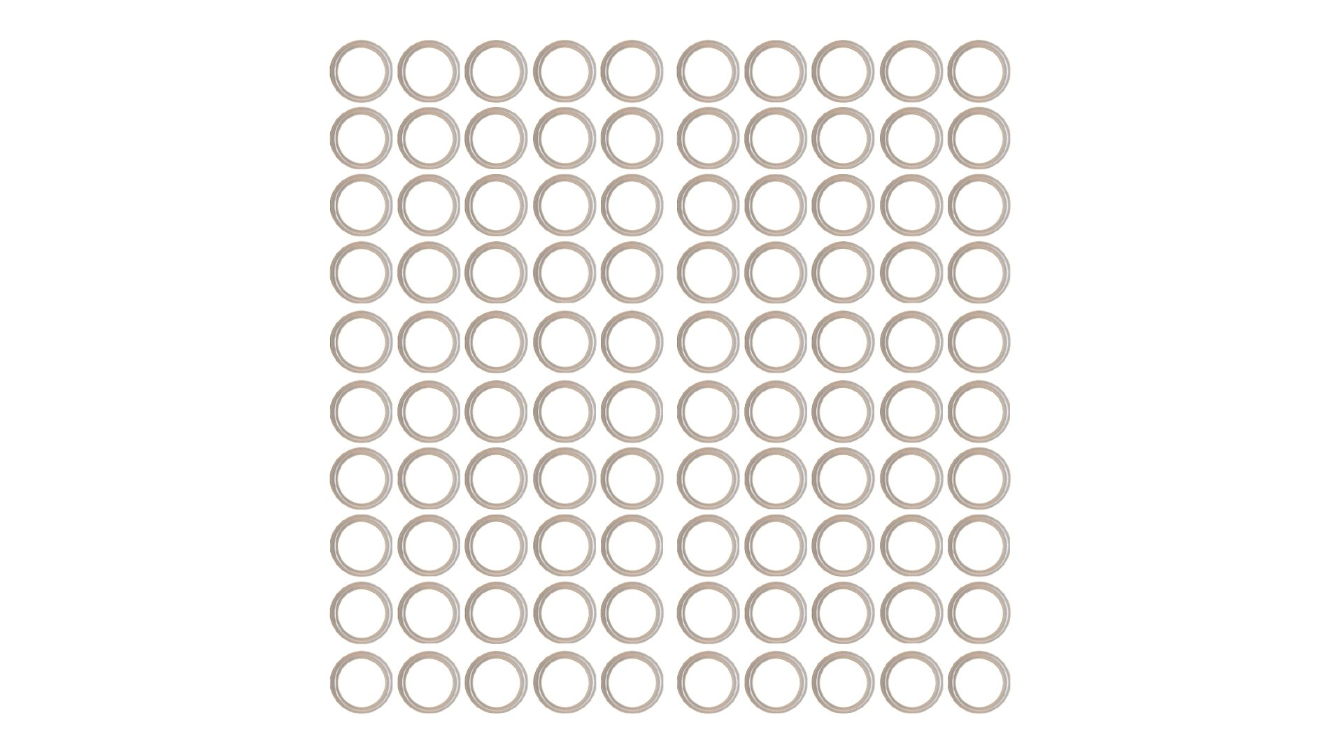 Sterling Seal OR90CLRURE019X100 019 90 D O-Ring, Urethane (Pack of 100)