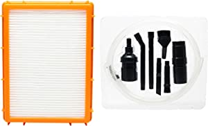 Replacement HF-2 HEPA Filter 61111D with 1 Micro Vacuum Attachment Kit for Eureka - Compatible with Eureka 4870MZ, Eureka 4800 series, Eureka Boss SmartVac Pet Lover 4870SZ, Eureka Boss SmartVac 4870MZ, Eureka HF2, Eureka HF-2, Eureka 4870D, Eureka 61111, Eureka Boss SmartVac 4870T, Eureka Boss SmartVac 4870HZ, Eureka Boss SmartVac 4870K, Eureka 4885B, Eureka 4875A