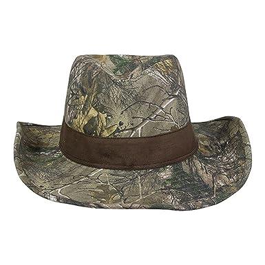 7bf0c3e9edfc7 Realtree X-tra Green  Brown Cowboy Hat  Amazon.co.uk  Clothing