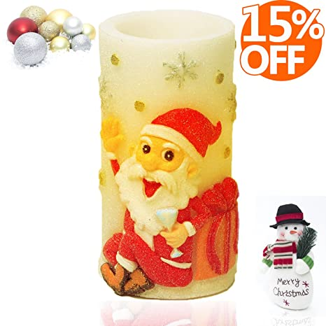 flameless candles with timer battery operated candles with reindeer design battery operated for christmas