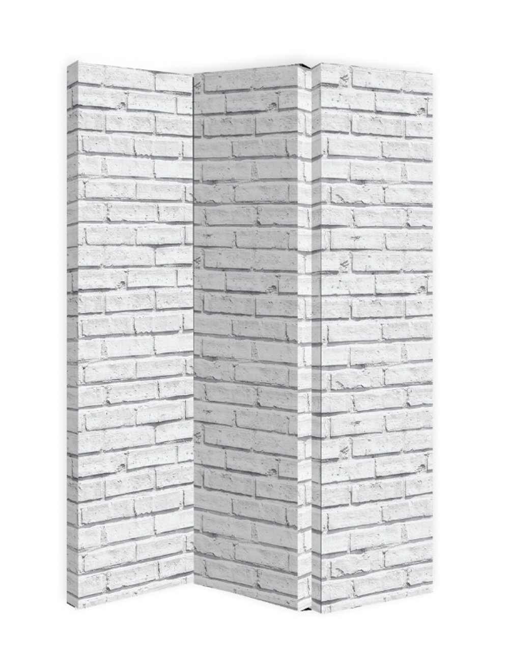 Arthouse Screen/Room Divider, Polyester, White Brick Colour, 150 x 120 x 2.5 4622
