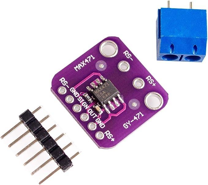 TECNOIOT 2pcs GY-471 3A Range Current Sensor Module MAX471 Module 2pcs GY-471 3A Range Professional Sensor Module MAX471 per Arduino