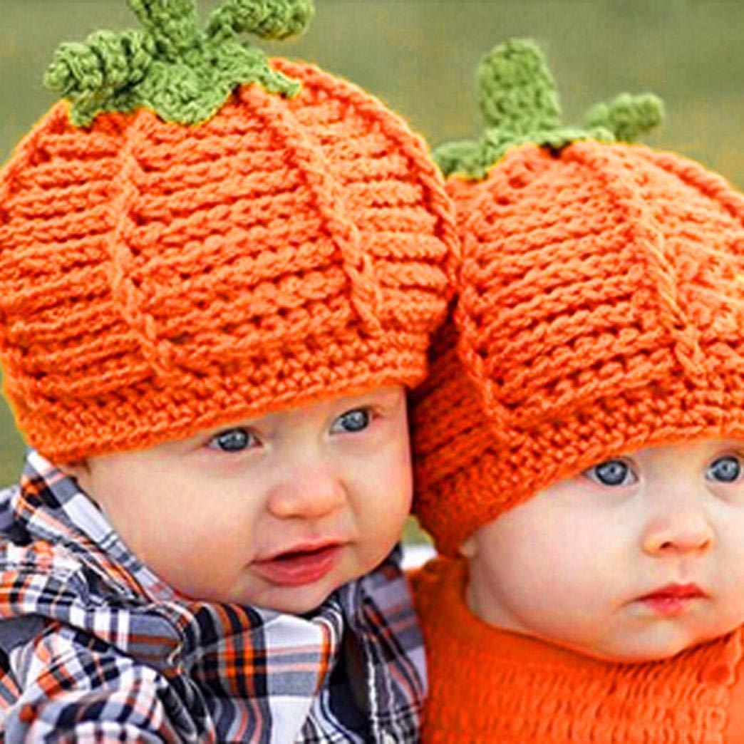 Amazon.com  Afus BIG SALE! Newborn Baby Pumpkin Cap Knit Hat Costume  Photography Prop  Beauty 8769eac92238