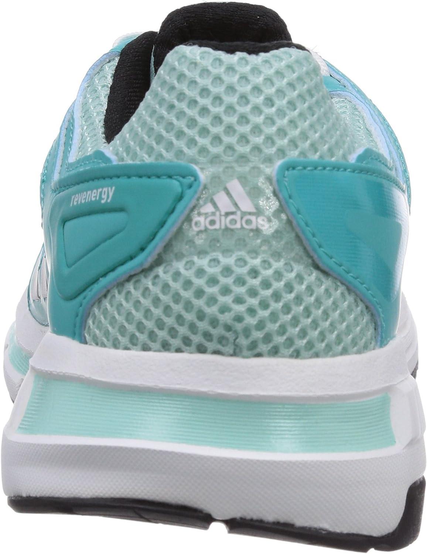 adidas Revenergy Techfit, Chaussures de Running Mixte Adulte Turquoise Frost Blue F14 Metallic Silver Black 1
