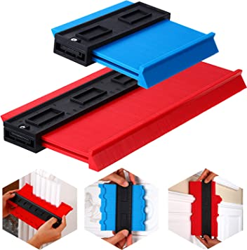 Contour Gauge 2 Pack Simple 10 Inch Wider And 5 With Lock Plastic Duplicator