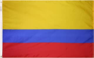 product image for Annin Flagmakers Model 191764 Colombia Flag 3x5 ft. Nylon SolarGuard Nyl-Glo 100% Made in USA to Official United Nations Design Specifications.
