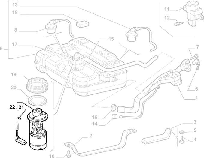 Genuine Fiat Doblo 2000 1 2 1 4 1 6 8v 16v Fuel Pump