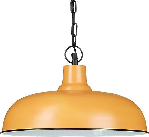 Relaxdays - Lámpara de techo estilo antiguo/vintage, color arcilla ...
