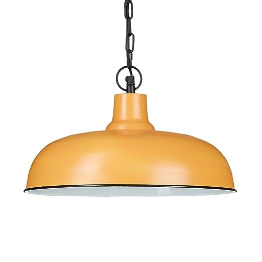 Relaxdays - Lámpara de techo estilo antiguo/vintage, color arcilla, con los siguientes tamaños HBT: 128 x 36 x 36 cm, casquillo E27 de 40 W, pantalla ...