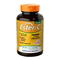 American Health Ester-C Powder with Citrus Bioflavonoids - Gentle On Stomach, Non-Acidic...