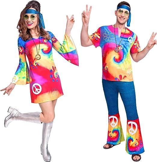 Fancy Me Disfraz de Hippy Hippie para Parejas y Hombres con ...