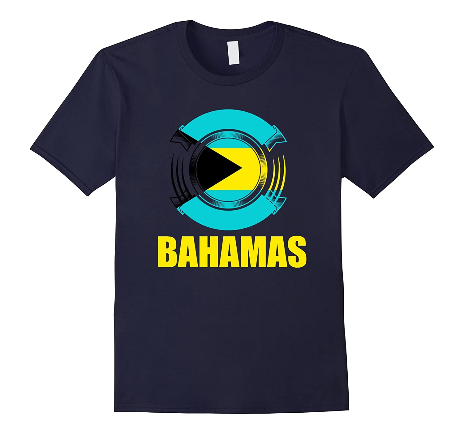 Bahamas Flag Badge Pride Gift T-Shirt-TH