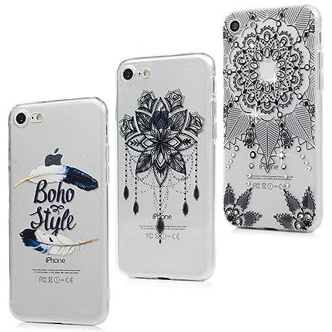 coque iphone 7 silicone plume