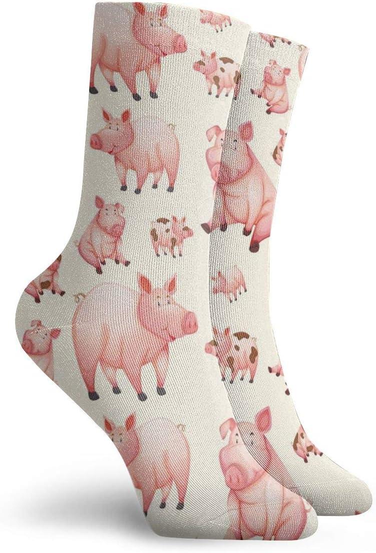 Pink s/ü/ßes Schweinchen aus Polyester BJAMAJ Unisex Socken
