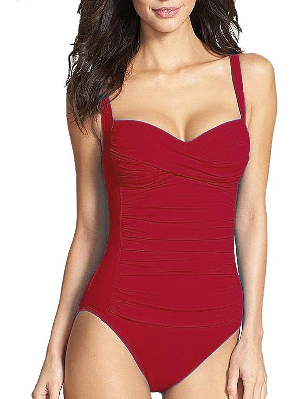 31bf6e1c9ac Amazon.com: Nessere New Women One-Piece Swimsuit Push Up Bikini ...