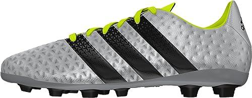 adidas Ace 16.4 FxG J, Chaussures de Football garçon, Argent