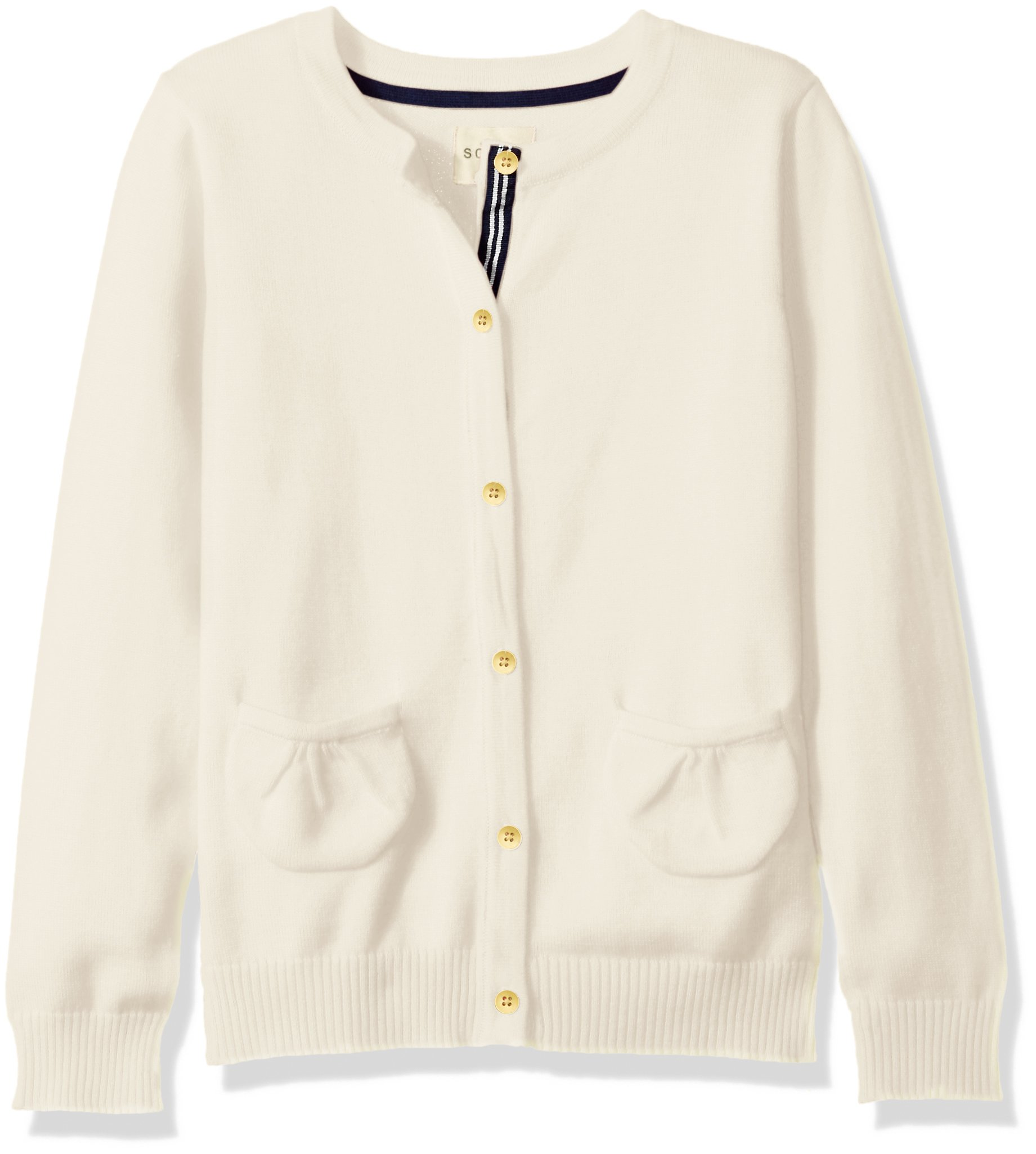 Scout + Ro Little Girls' Button-Front Cardigan Sweater, Frost Cream, 5
