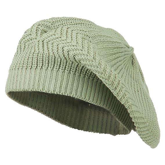 f098c43a4a6e5 Cotton Rasta Tam Beret - Sage OSFM: Amazon.in: Clothing & Accessories