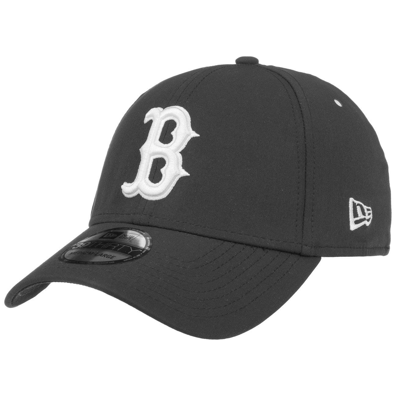 New Era Hats 39THIRTY Boston Red Sox Baseball Cap - Clean Team - Schwarz