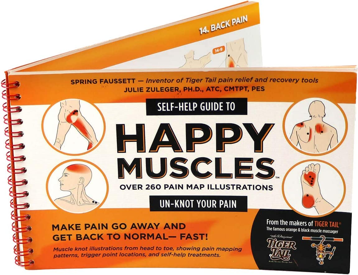 TigerTail Unisexs The Happy Muscles Guide Book One Size Orange//Black