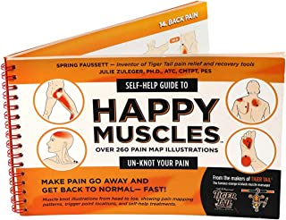 product image for TigerTail Unisex's The Happy Muscles Guide Book, Orange/Black, One Size
