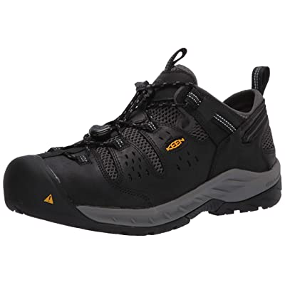 KEEN Utility Men's Atlanta Cool II Low Steel Toe Construction Shoe, Black/Dark shadow, 7D US: Shoes