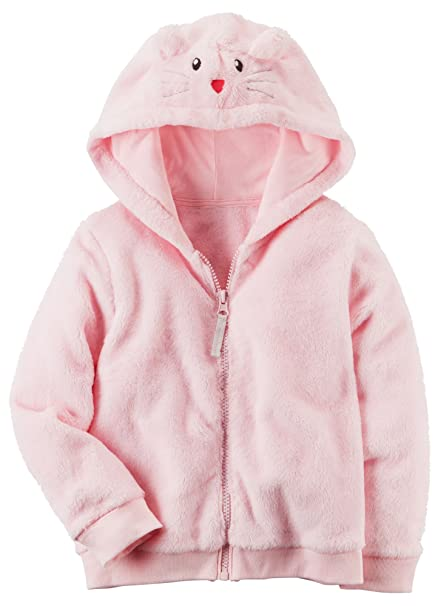 c864d3088 Amazon.com  Carter s Girls  12M-4T Faux Sherpa Hoodie with Ears ...