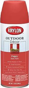 Krylon K09338000 Outdoor Décor Spray Paint, Poppy Red
