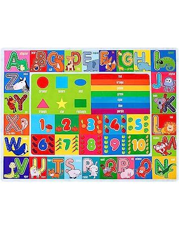 Ustide Alphabet Educational Kids Rug Carpet 39x52Oval Nursery Kids Rug Vibrant Children Playroom Rug Theme Rug