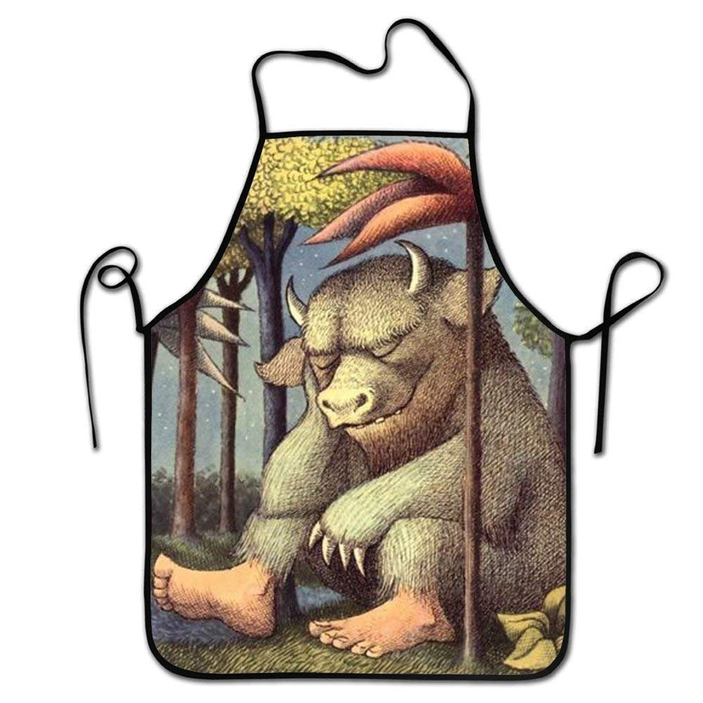 faverling Where the Wild Things Areエプロンキッチンバーベキュー料理用耐久性調節可能お手入れ簡単エプロン   B07FCCVGHB