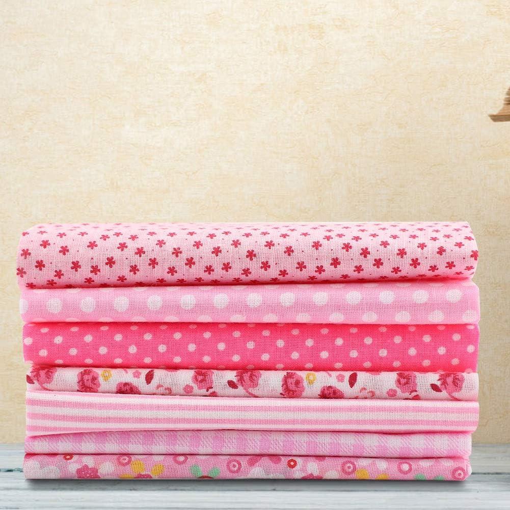 24 cm rosa Cotton Craft 7 unidades costura manualidades 25*25 Juego de telas para confecci/ón de colchas algod/ón