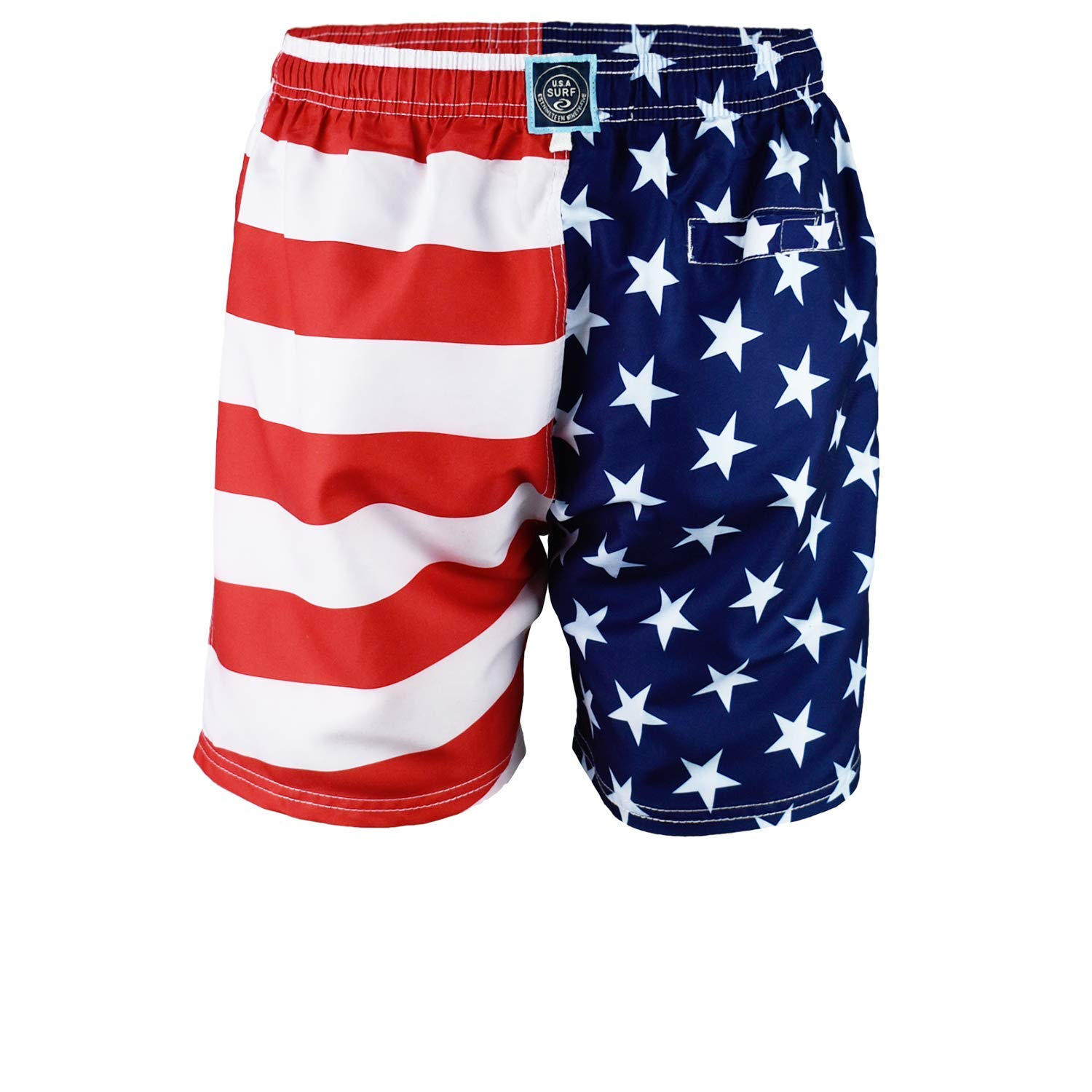 6d5551a87f Exist Licensed-Mart Men's Patriotic USA American Flag Stripes and Stars  Quick Dry Beach Board Shorts Swim Trunks | Amazon.com